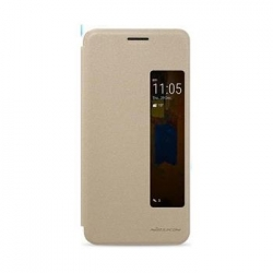 Nillkin Sparkle S-View Pouzdro Gold pro Huawei P20 Pro