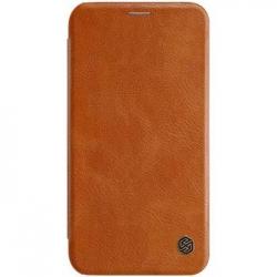 Nillkin Qin Book Pouzdro Brown pro iPhone XR