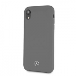MEHCI61SILGR Mercedes Silicon/Fiber Case Lining Grey pro iPhone XR