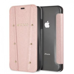 GUFLBKI61KAILRG Guess Kaia Book Case Rose Gold pro iPhone XR