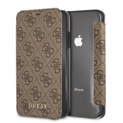 GUFLBKI61GF4GBR Guess Charms Book Case 4G Brown pro iPhone XR