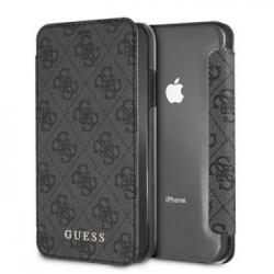 GUFLBKI61GF4GGR Guess Charms Book Case 4G Grey pro iPhone XR