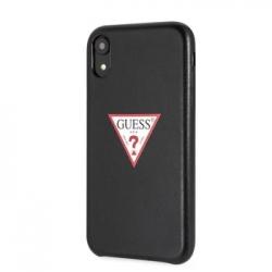GUHCI61PTPUBK Guess PU Leather Case Triangle Black pro iPhone XR