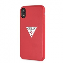 GUHCI61PTPURE Guess PU Leather Case Triangle Red pro iPhone XR