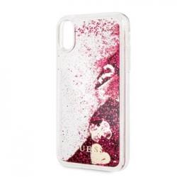 GUHCI61GLHFLRA Guess Glitter Case Hearts Raspberry pro iPhone XR