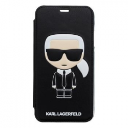 KLFLBKI61IKPUBK Karl Lagerfeld Ikonik Book Case Black pro iPhone XR