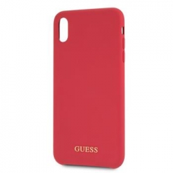 GUHCI65LSGLRE Guess Silicone Gold Logo Pouzdro Red pro iPhone XS Max