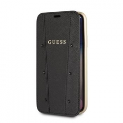 GUFLBKI65KASABK Guess Kaia Book Case Black pro iPhone XS Max