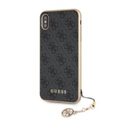 GUHCI65GF4GGR Guess Charms Hard Case 4G Grey pro iPhone XS Max