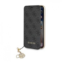 GUFLBKI65GF4GGR Guess Charms Book Case 4G Grey pro iPhone XS Max