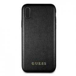 GUHCI65IGLBK Guess PU Leather Hard Case Iridescent Black pro iPhone XS Max