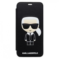 KLFLBKI65IKPUBK Karl Lagerfeld Ikonik Book Case Black pro iPhone XS Max