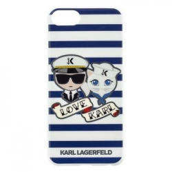 KLHCI8KSS Karl Lagerfeld Sailor Stripes TPU Case Black pro iPhone 6/6S/7/8