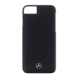 MEHCP7PGRBK Mercedes Leather Hard Case Pattern Black pro iPhone 7/8