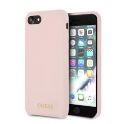 GUHCI8LSGLLP Guess Silicone Logo TPU Case Light Pink pro iPhone 7/8