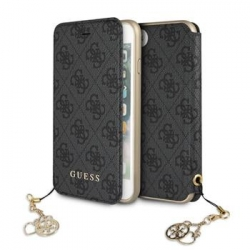 GUFLBKI8GF4GGR Guess Charms Book Case 4G Grey pro iPhone 7/8
