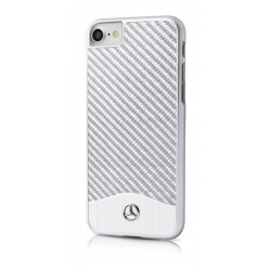 MEHCP7CACSI Mercedes Hard Case Wave V Alu Silver pro iPhone 7/8