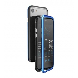 Luphie Blade Magnet Hard Case Aluminium Black/Blue pro iPhone 7/8