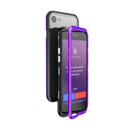 Luphie Blade Magnet Hard Case Aluminium Black/Purple pro iPhone 7/8