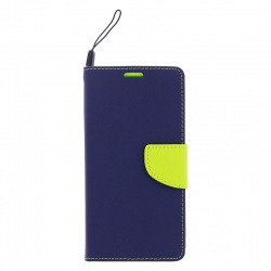 Huawei P20 Lite - Fancy Book obal Navy lime