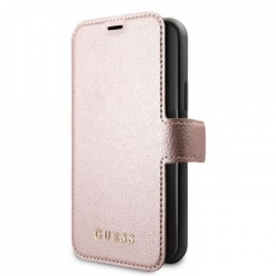 GUFLBKSN61IGLRG Guess Iridescent Book Pouzdro pro iPhone 11 Black/Rose (EU Blister)