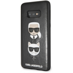 Karl Lagerfeld Karl and Choupette Hard Puzdro pro Galaxy S10e Black - KLHCS10LKICKCSBK