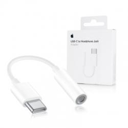 Redukcia Apple USB-C/3,5mm jack (MU7E2ZM/A) biela