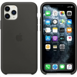 Púzdro Apple Silicone Case iPhone 11 Max čierne