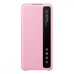 EF-ZG980CPE Samsung Clear S-View Pouzdro pro Galaxy S20 Pink (EU Blister)