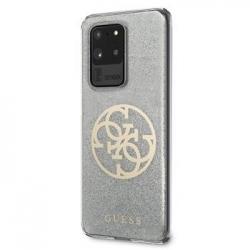 GUHCS69PCUGLLG Guess 4G Glitter Circle Kryt pro Samsung Galaxy S20 Ultra Grey
