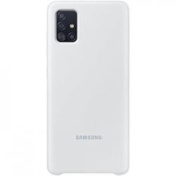 EF-PA715TSE Samsung Silikonový Kryt pro Galaxy A71 Silver (EU Blister)