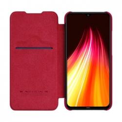 Nillkin Qin Book Pouzdro pro Xiaomi Redmi Note 8 Red
