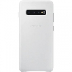 EF-VG975LWE Samsung Leather Cover/puzdro White pre G975 Galaxy S10 Plus