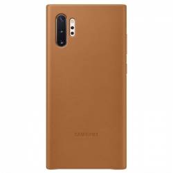Kryt na mobil Samsung Leather Cover na Galaxy Note10 Plus (EF-VN975LAEGWW) hnedý
