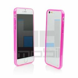 Apple iPhone 6,6S - Silikónové púzdro Ružovo priesvitné