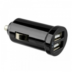 Autonabíjačka Fontastic s USB konektorom, výstup 1,2 A, čierna, box
