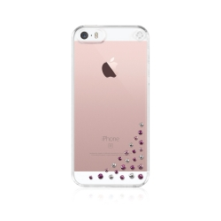 Zadný kryt Bling My Thing Diffusion Pink Mix pre Apple iPhone 5/5S/SE, MADE WITH SWAROVSKI® ELEMENTS + fólie na displej