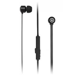 Bezdrôtové slúchadlá KITSOUND Ribbons s mikrofónom, BT 4.1, plochý kábel, magnetic housing, čierna