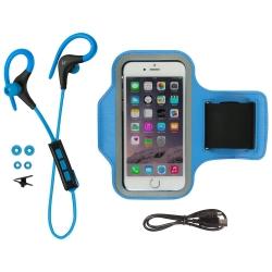 Pack športových bezdrôtových slúchadiel KITSOUND RACE s univerzálnym puzdrom Armband, modrá