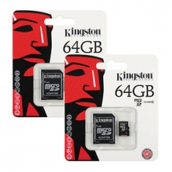 64GB microSDXC/HC Kingston UHS-I Industrial Temp + SD adapter (SDCIT/64GB)