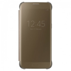Samsung Clear View Cover pre Galaxy  S7 (G930) Gold