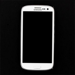 LCD display + Dotyk + Přední kryt Samsung i9300 Galaxy S3 White (Service Pack)