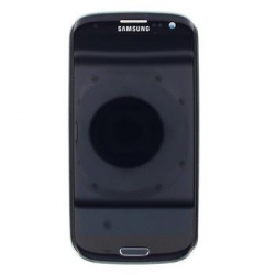 LCD display + Dotyk + Přední kryt Samsung i9300 Galaxy S3 Black (Service Pack)