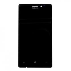 LCD Display + Dotyková Deska + Přední Kryt Black pro Nokia Lumia 925