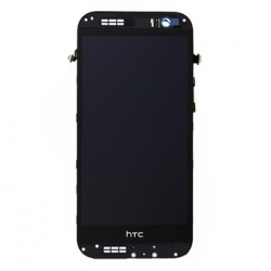 LCD Display + Dotyková Deska + Přední Kryt Grey pro HTC ONE2 M8