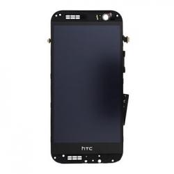 LCD Display + Dotyková Deska + Přední Kryt Gold pro HTC ONE2 M8