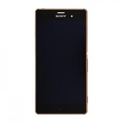 LCD Display + Dotyková Deska + Přední Kryt Copper Sony D6603 Xperia Z3 (Service Pack)