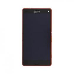 LCD Display + Dotyková Deska + Přední Kryt Orange Sony D5803 Xperia Z3compact (Service Pack)