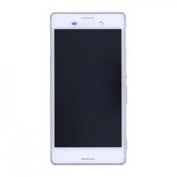 LCD Display + Dotyková Deska + Kompletní Kryt White Sony E2303 Xperia M4 Aqua (Service Pack)