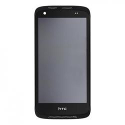 LCD Display + Dotyková Deska + Přední Kryt Black pro HTC Desire 526g